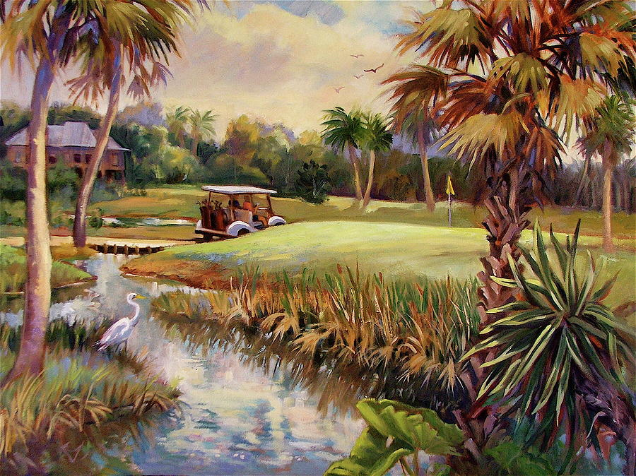 Landscape Painting - Great Day For Golf by Dianna Willman