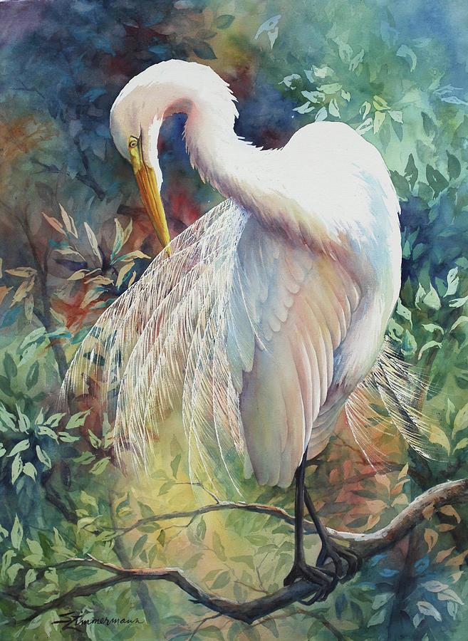 Great Egret by Sue Zimmermann