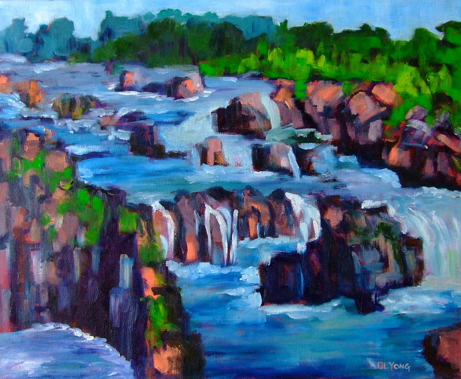 Great Falls Painting - Great Falls by Glynis Berger
