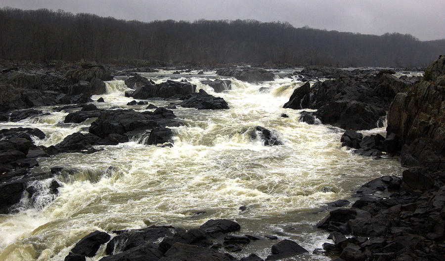 Potomac Photograph - Great Falls Potomac River Maryland by Wayne Higgs