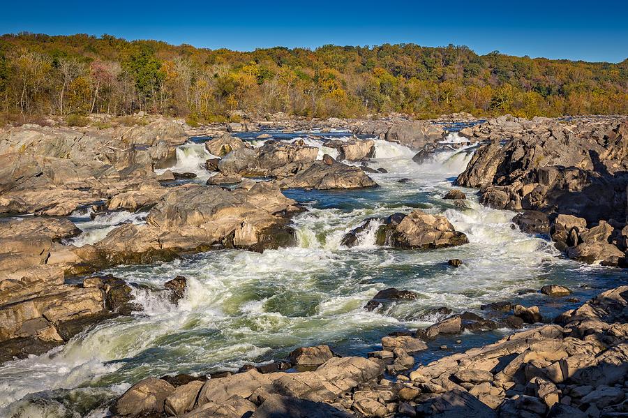 Autumn Photograph - Great Falls by Robert Davis