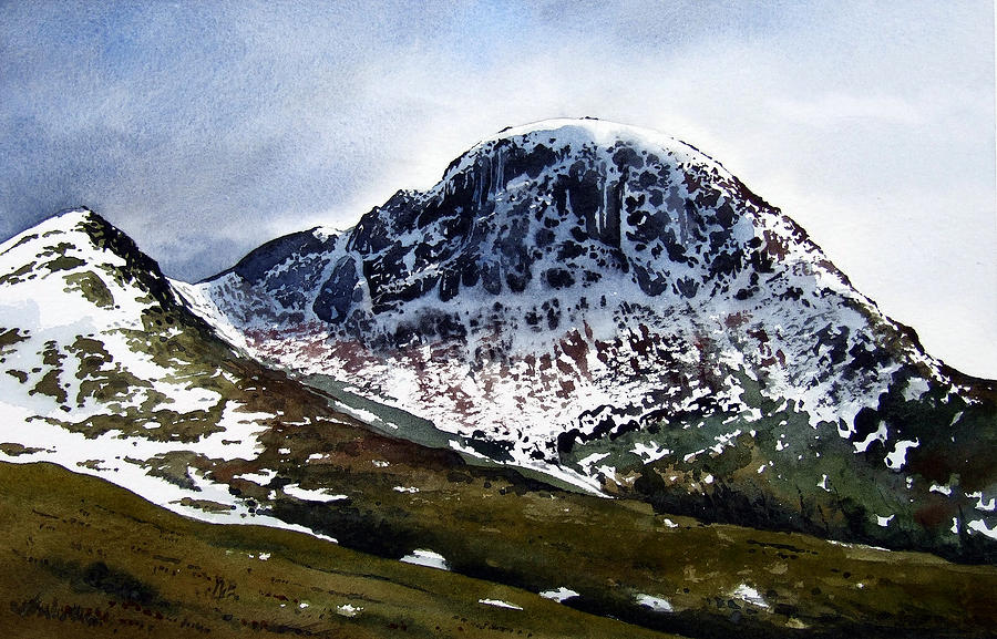 Watercolour Painting - Great Gable by Paul Dene Marlor