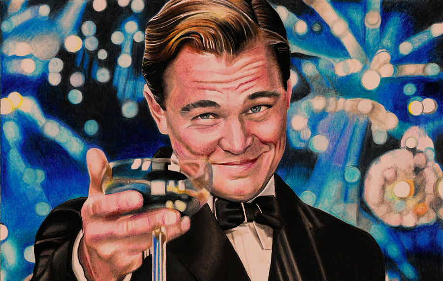 Great Gatsby Leonardo Dicaprio Mixed Media By Daniel Daniel