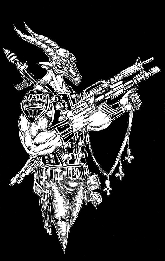 Great Goat Gas Mask by Alaric Barca