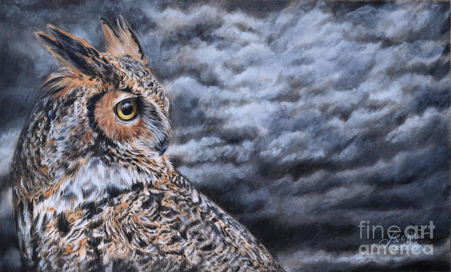 Great Horned Owl Painting By Lachri