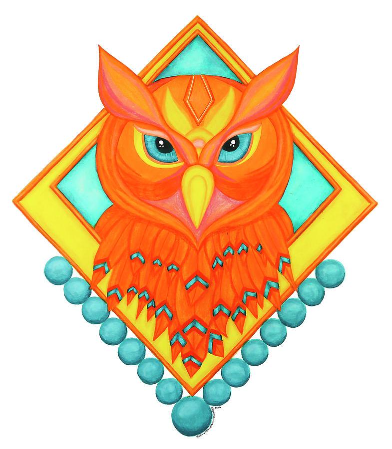 Owl Drawing - Great Horned Owl by Tara Warburton-Schwaber