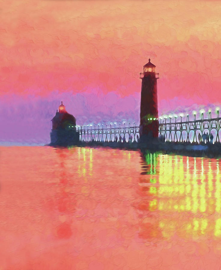 Michigan Photograph - Great Lakes Light by Dennis Cox