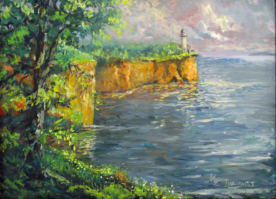 Lake Superior Painting - Great Lakes Light by Kym Inabinet