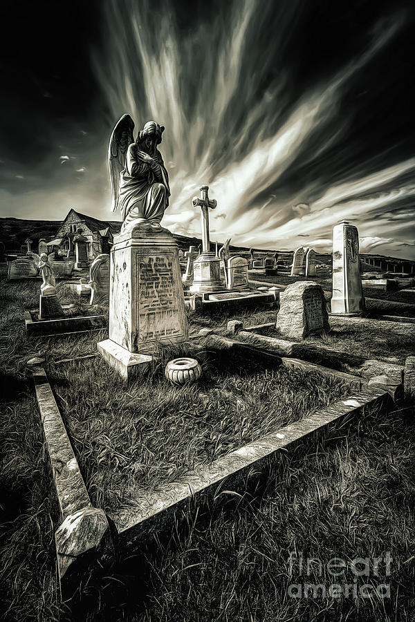 Grave Yard Photograph - Great Orme Graveyard by Adrian Evans