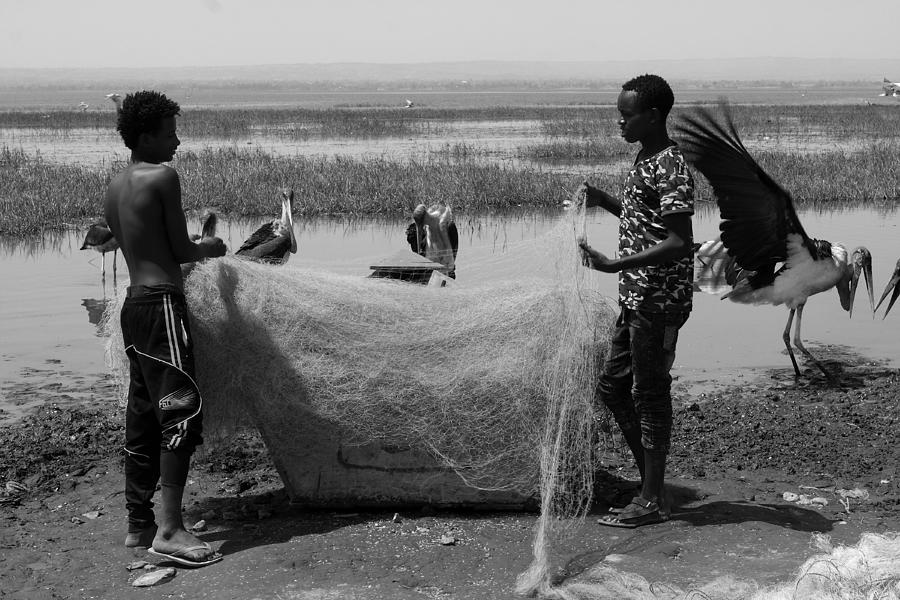 Great Rift Valley Photograph - Great Rift Fishermen by Aidan Moran