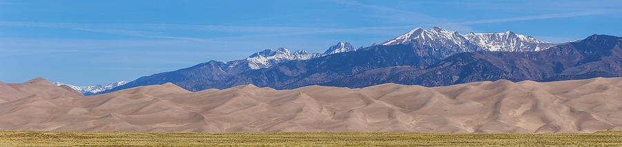 Great Sand Dunes National Park And Preserve Panorama Photograph