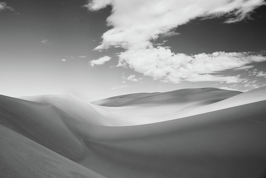 Great Sand Dunes National Park Photograph - Great Sand Dunes National Park in Black and White by Kevin Schwalbe