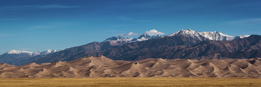 Great Sand Dunes Panorama 3to1 by Stephen Holst