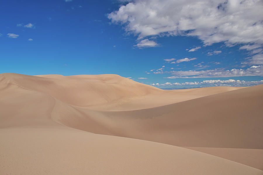 Great Sand Dunes National Park Photograph - Great Sand Dunes Under a Blue Sky by Kevin Schwalbe