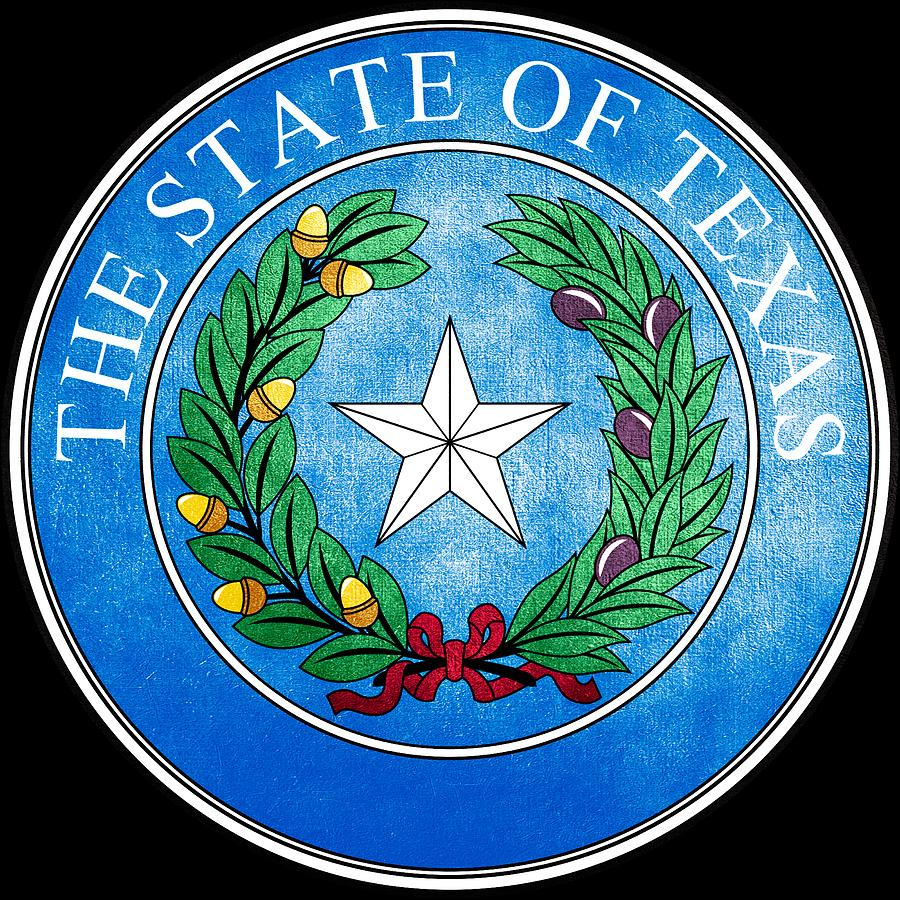 Great Seal Of The State Of Texas Photograph By Mountain Dreams