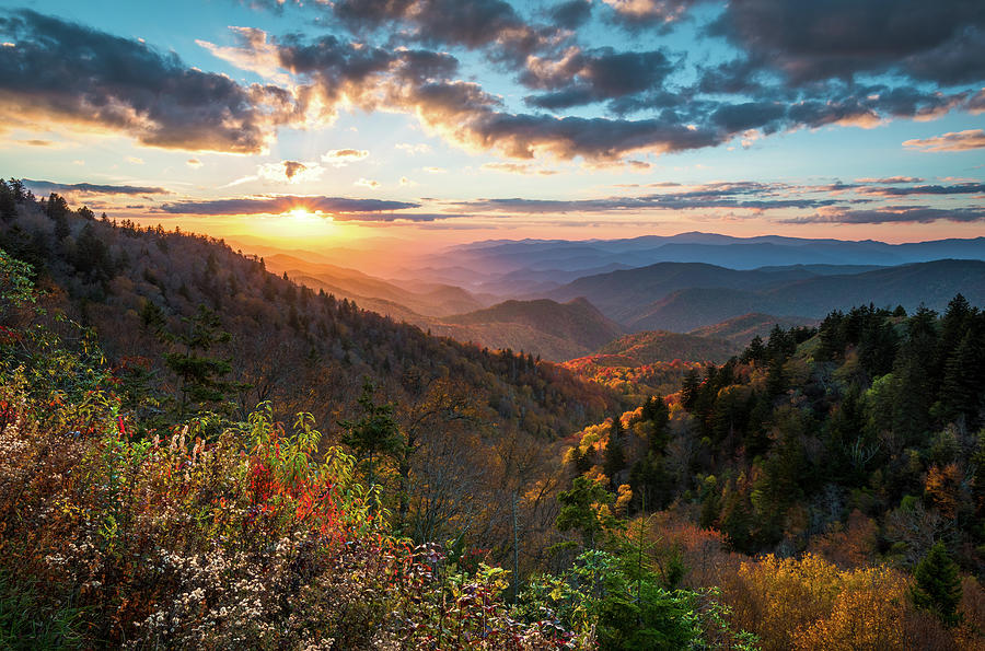 Great Smoky Mountains National Park Nc Scenic Autumn