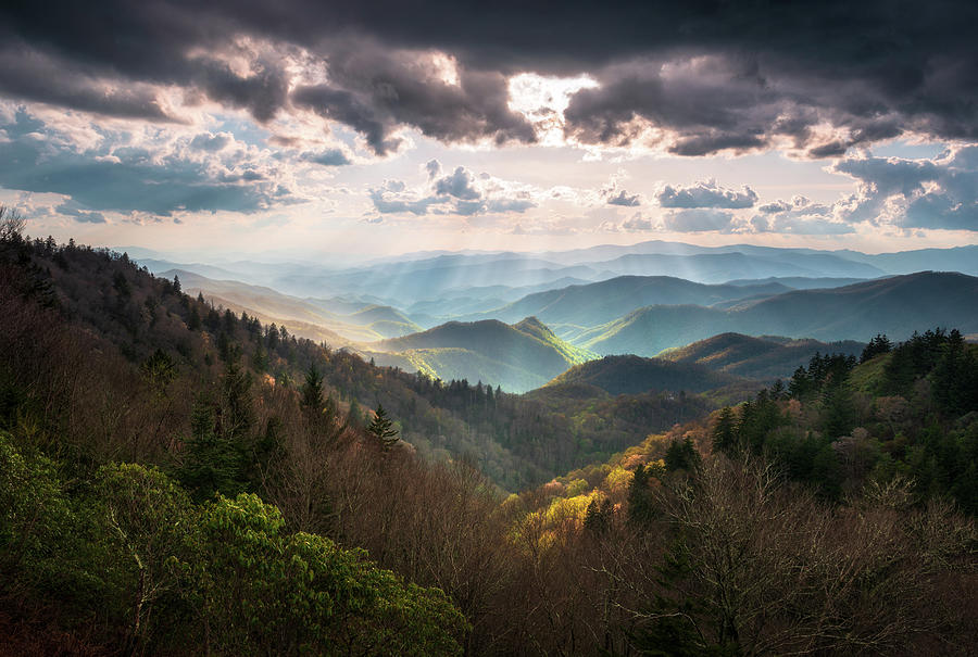 Great Smoky Mountains National Park North Carolina Scenic Landscape by Dave Allen