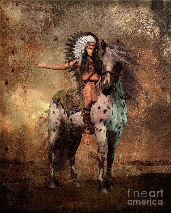 Great Spirit Chief Mixed Media
