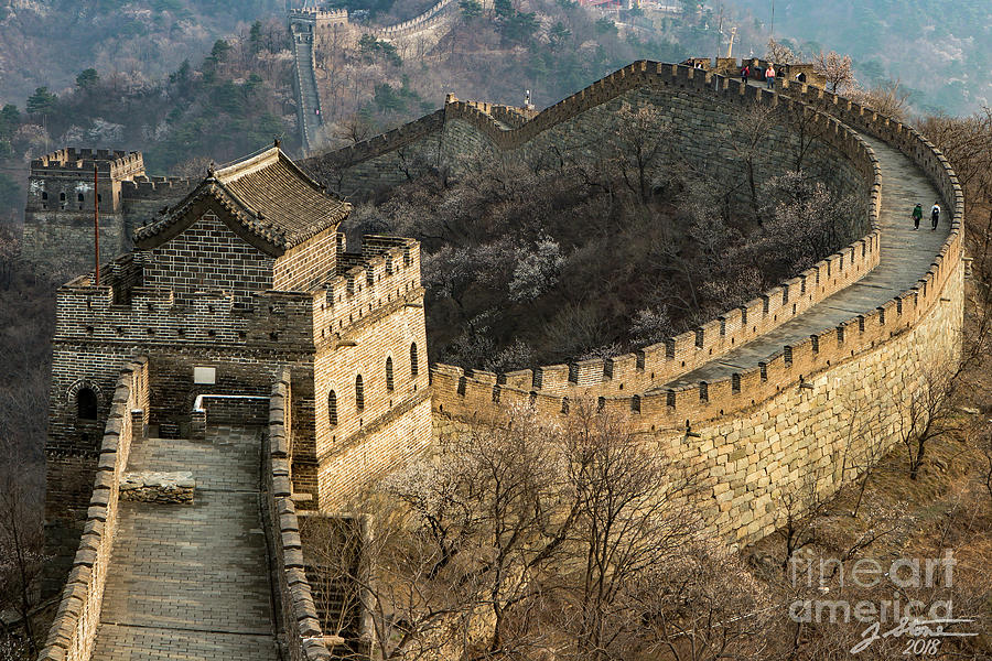 Great Wall Of China Photograph - Great Wall #1 by Jeffrey Stone