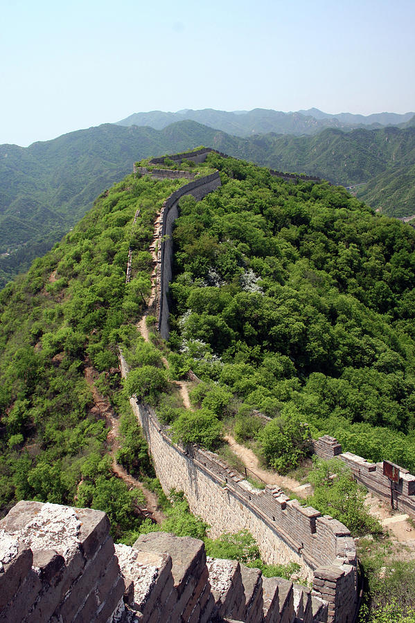 Vertical Photograph - Great Wall Of China by Natalia Wrzask