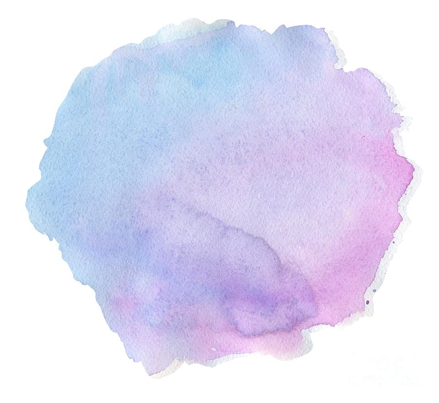 Great Watercolor Blur Pink Blue Color Hand Drawing