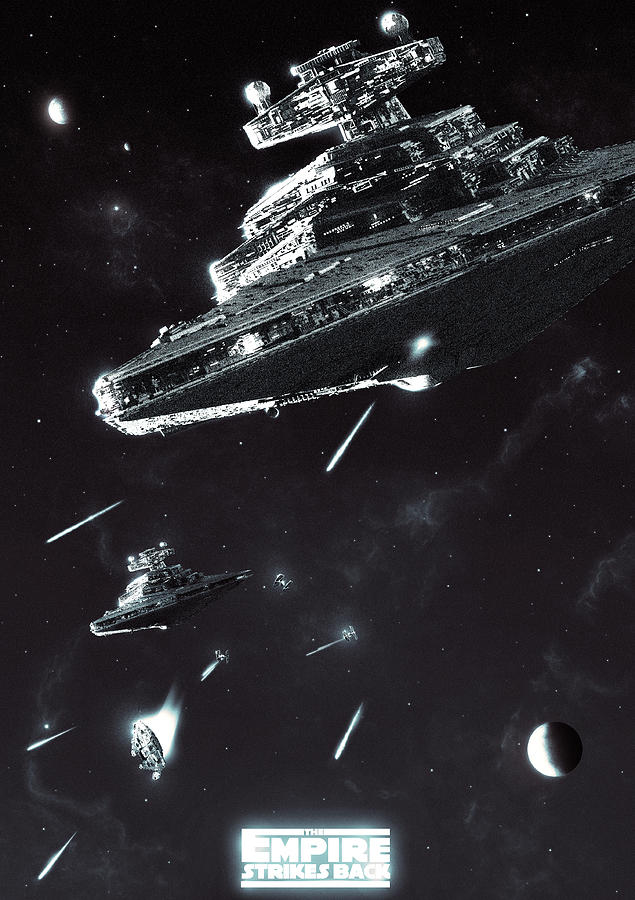 Star Destroyer Digital Art - Great, well I can still outmaneuver them by Colin Morella
