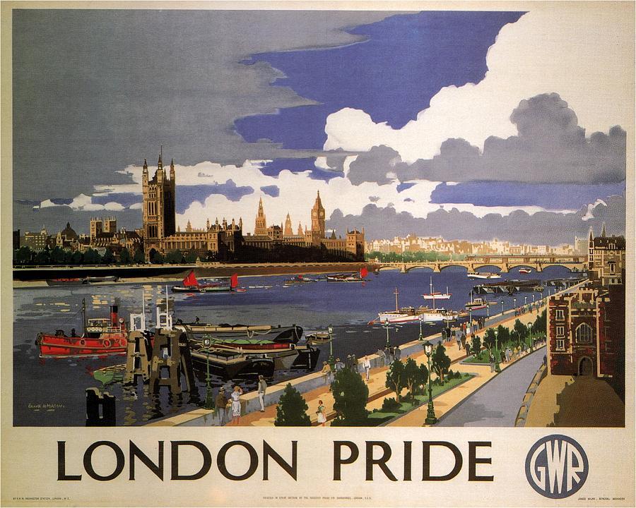 Great Western Railway - London Pride - Retro Travel Poster - Vintage Poster Mixed Media