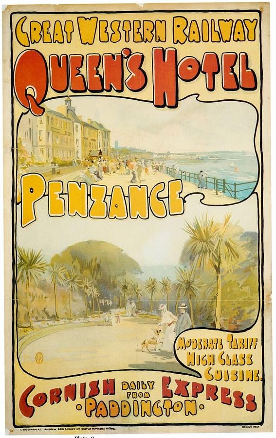 Great Western Railway - Queens Hotel - Retro Travel Poster - Vintage Poster Mixed Media