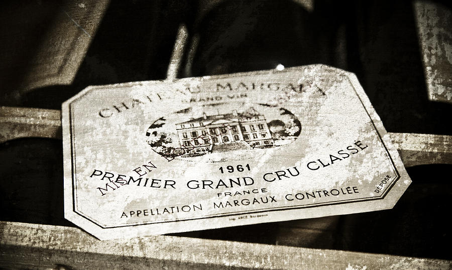 Wine Mixed Media - Great Wines Of Bordeaux - Chateau Margaux 1961 by Frank Tschakert