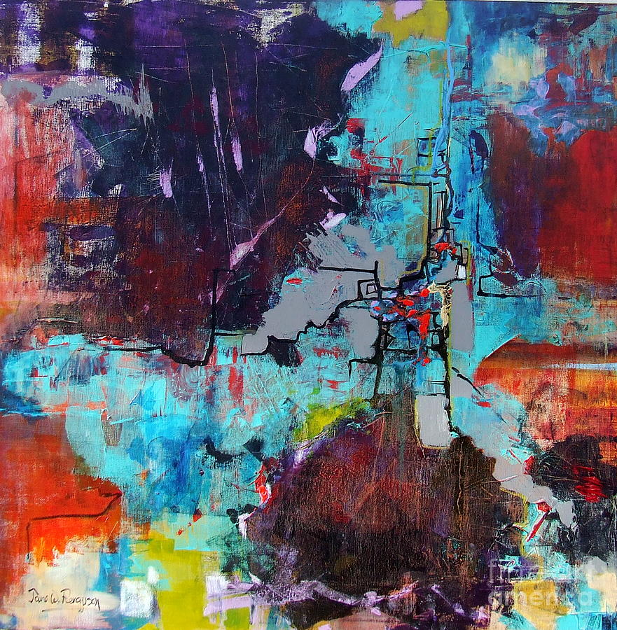 Abstract Painting - Greater London by Jane Ferguson