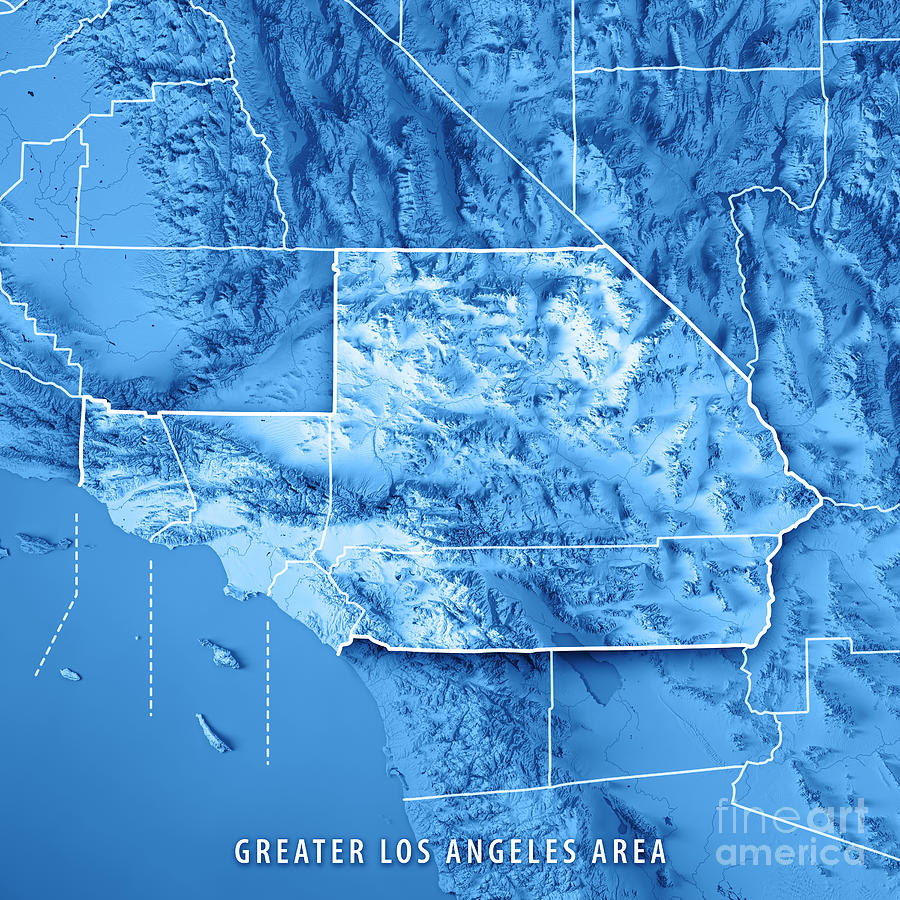 Greater Los Angeles Area Usa 3d Render Topographic Map Blue Bord on map greater tacoma, map long beach, map hollywood, map bay area, map greater nashville, map bangkok tourist attractions, map inland empire, map greater denver, greater toronto area, map san francisco, map new york, map greater boston, map anaheim, map santa monica, atlanta metropolitan area, map beverly hills, inland empire, los angeles metropolitan area, dallas/fort worth metroplex, map santa barbara, seoul national capital area, map san gabriel valley, baltimore–washington metropolitan area, new york metropolitan area, greater houston, map salt lake city, map south orange county, map minneapolis, greater tokyo area, map silicon valley, los angeles county, san diego metropolitan area, orange county,