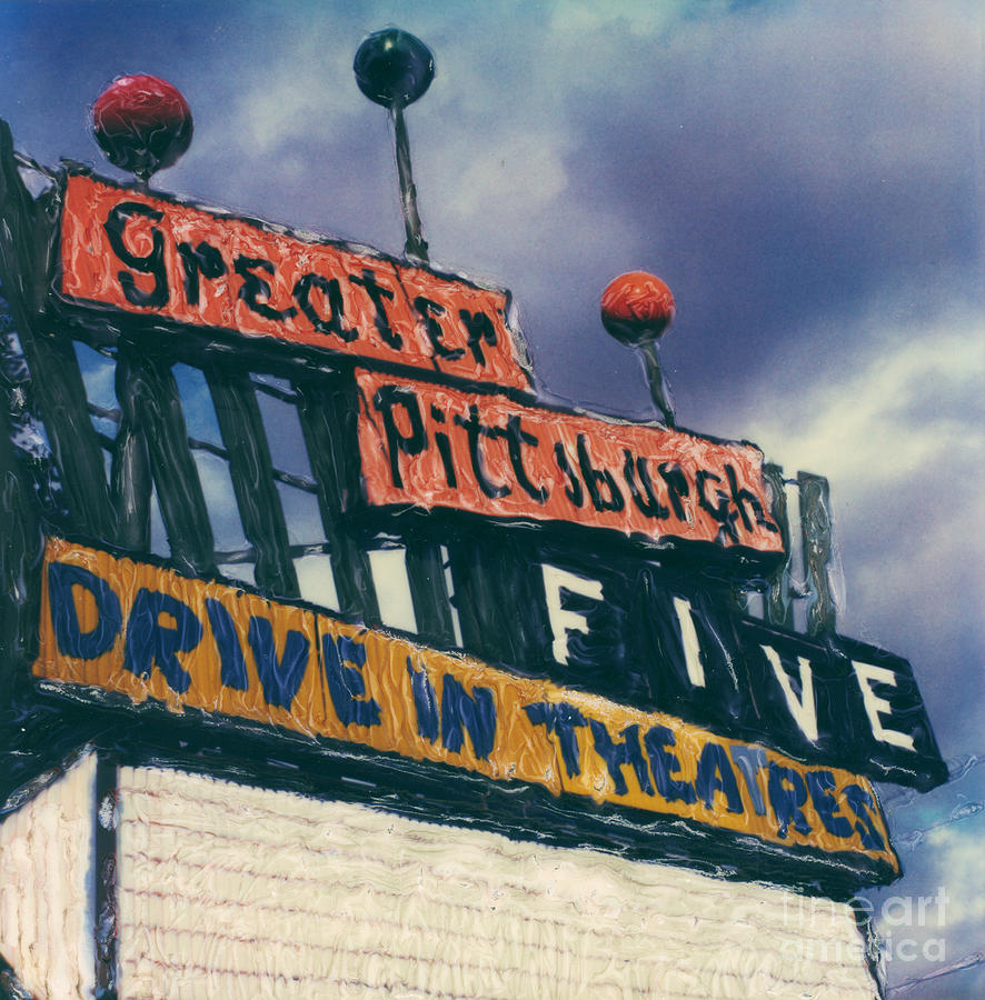 Polaroid Photograph - Greater Pittsburgh Five Drive-in by Steven  Godfrey
