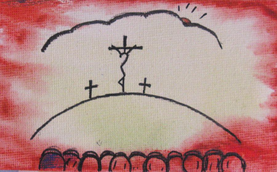 Christ Painting - Greatest Love by Trilby Cole