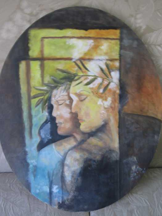 Grecian Muse Painting by Colleen DalCanton