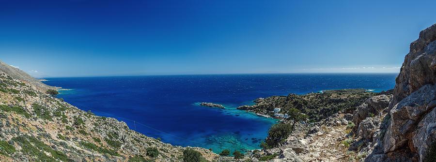 Greece Photograph - Greece, Crete, Loutro by Dmitry Laudin