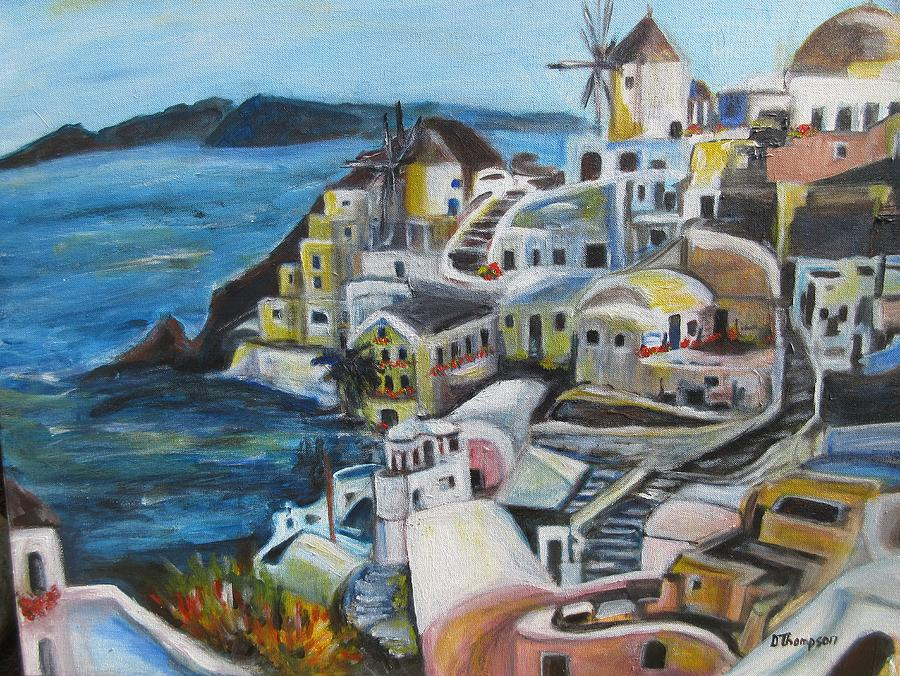 Greek Islands Painting - Greek Dreams by Denice Palanuk Wilson