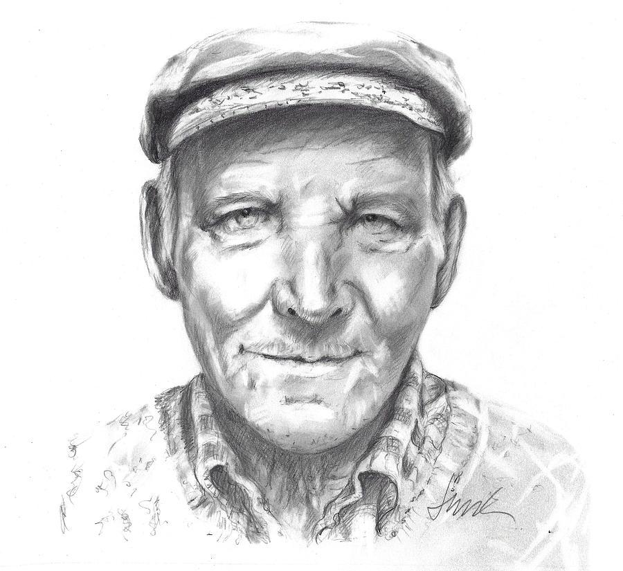 Greek Fisherman Drawing - Greek Fisherman by Jacki Kellum