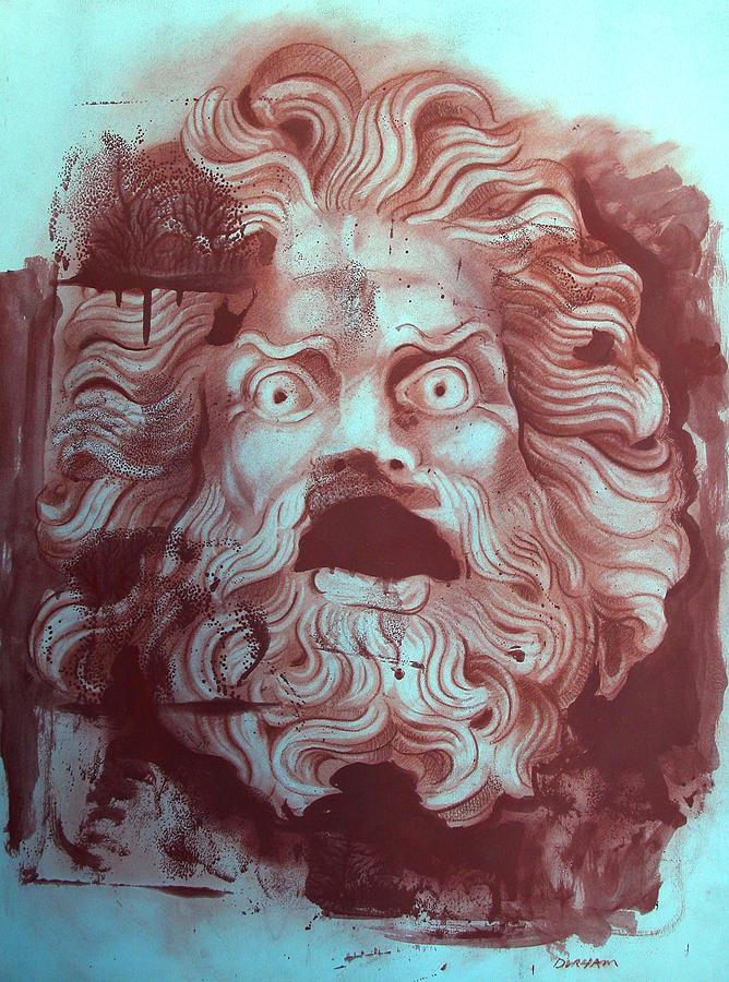 Figure Digital Art - Greek Mask by Tom Durham