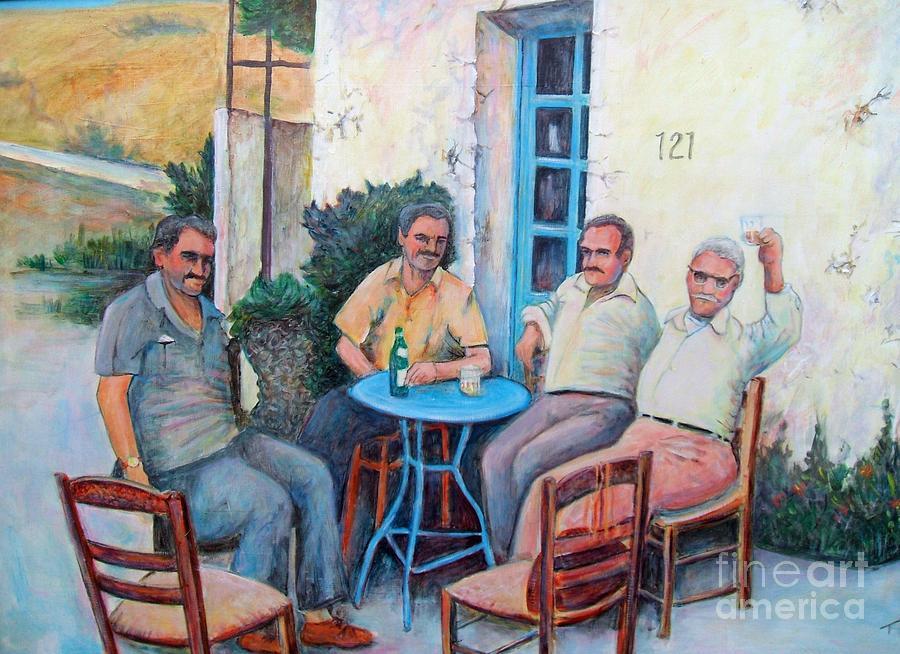 Greek Painting Greek Men By Pete Tsouvas