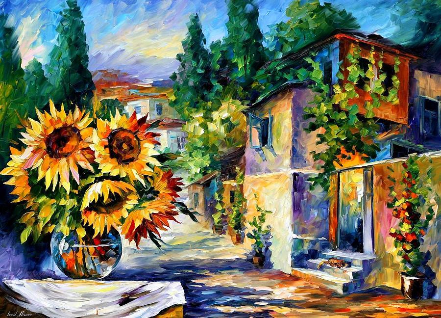 Afremov Painting - Greek Noon by Leonid Afremov