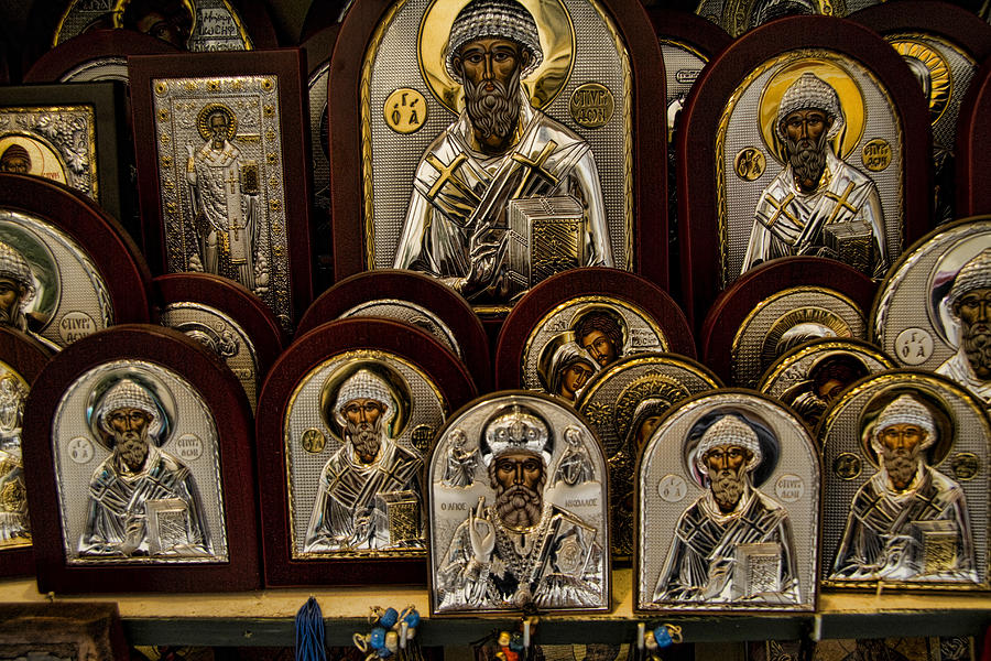 Icons Photograph - Greek Orthodox Church Icons by David Smith