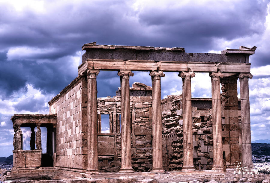 Greek Temple by Linda Constant
