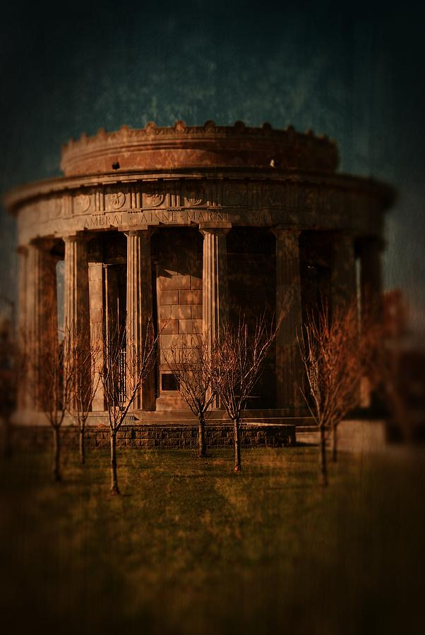 Textured Photograph - Greek Temple Monument War Memorial by Angie Tirado