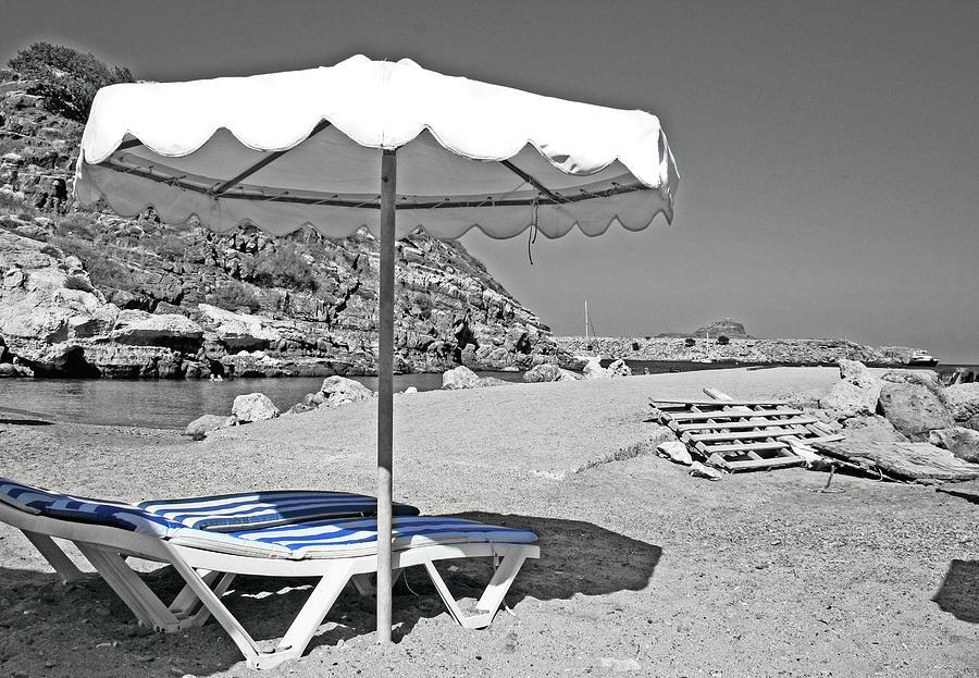 Greece Photograph - Greek Umbrella by La Dolce Vita