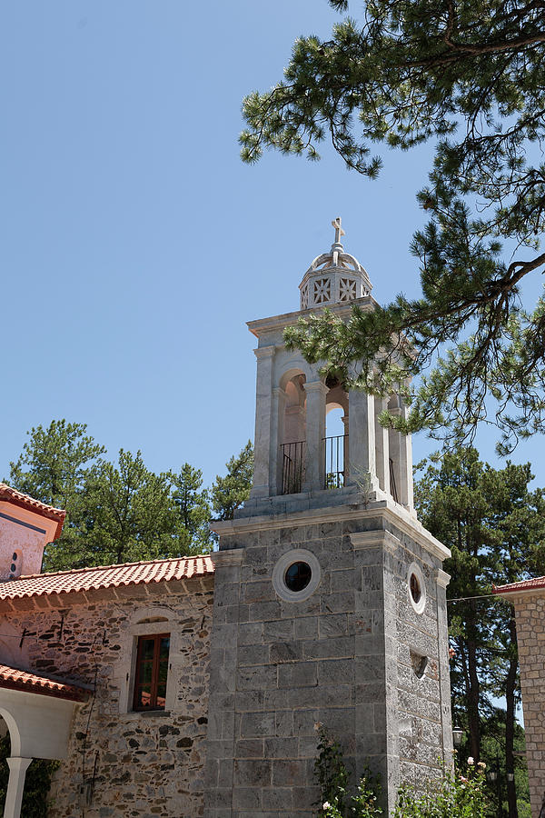 Greece Photograph - Greek Village Church In The Forest by Al Poullis