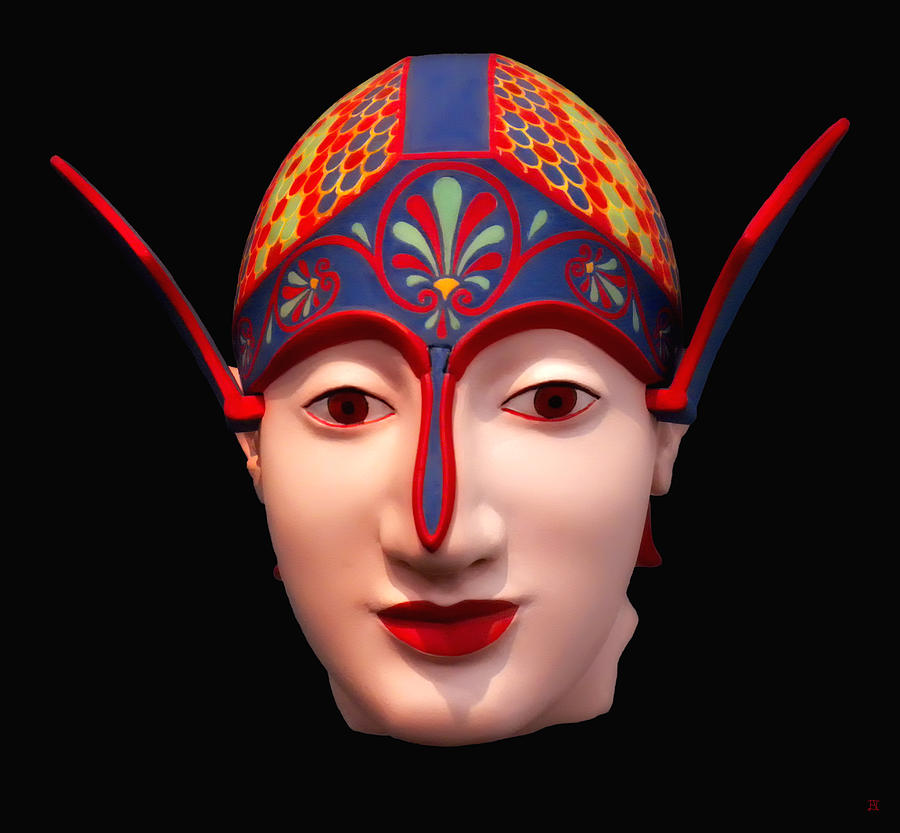 Greek Warrior Head by Nigel Fletcher-Jones