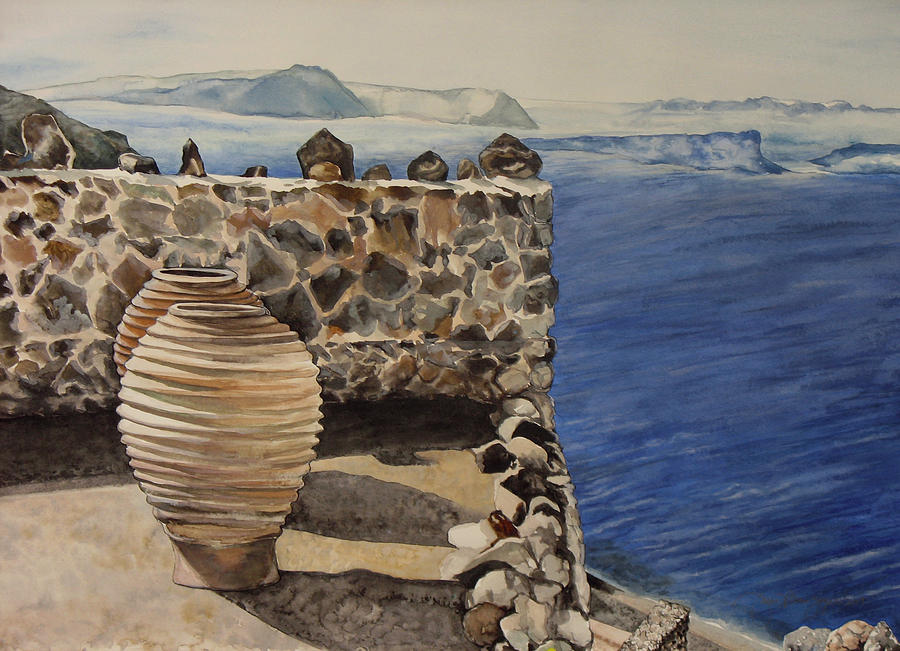 Painting Painting - Greekscape 4 by Caron Sloan Zuger