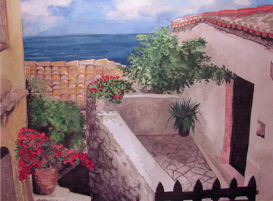 Greece Painting - Greekscape by Caron Sloan Zuger