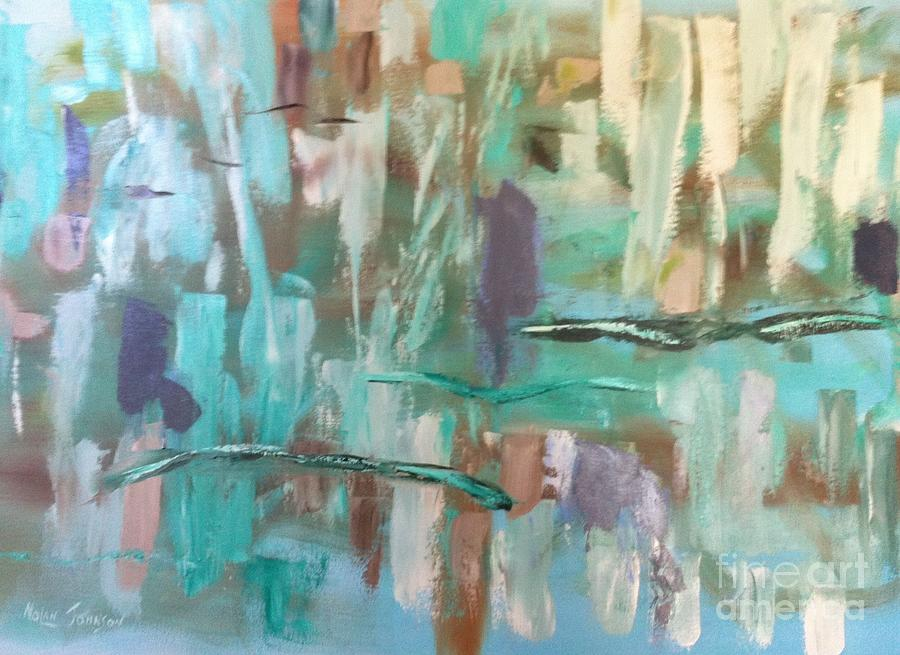 Green Abstract by Marilyn Nolan-Johnson by Marilyn Nolan-Johnson
