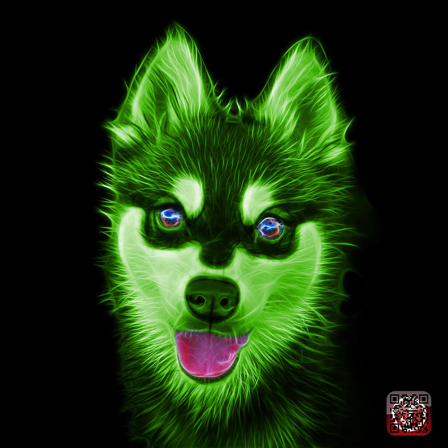Green Alaskan Klee Kai - 6029 -BB by James Ahn